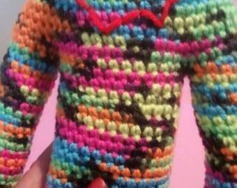 Handmade Crochet Hug Monster, crochet stuffed animals, child's toy
