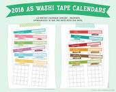 2018 A5 Washi Tape Printa...