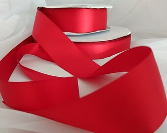 Ribbons Red double sided 7/8 ( 22 mm) .  Shipping first yard 3.00 additional yards 0.05.