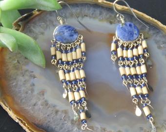 Peruvian Lapis Lazuli Earrings