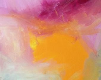"Acrylic on canvas ""Naleia"" 90 x 60 cm Modern Art modern style acrylic original abstract painting on canvas"