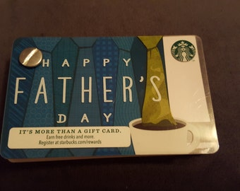 Starbucks Upcycled Refillable Giftcard Notebook - 2014 Happy Father's Day