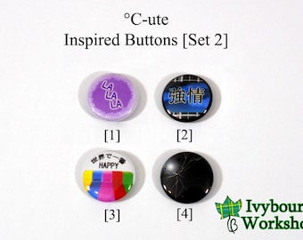 J-Pop / Hello! Project / C-ute Inspired 1-Inch Pinback Buttons [Set 2]