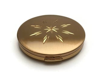 Regent of London Compact   Starburst Pattern   Vintage Compact   Vintage 1950s   Face Powder Compact   Pressed Solid Powder Compact   Gift