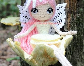 Amigurumi Doll Anime : Pattern luciella the winter fairy crochet amigurumi doll