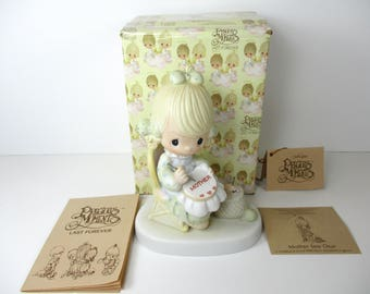 Vintage Precious Moments Mother Sew Dear Figurine - Precious Moments - Figurine - Porcelain - Enesco - Gift For Mom - Gift For Her - Gift