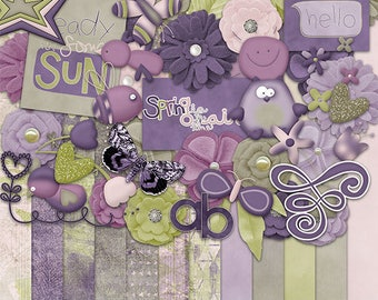 30%Off Spring Day Digital Scrapbooking Kit,Spring Owl