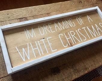 White Christmas, Rustic Christmas, christmas Sign, Christmas Decor