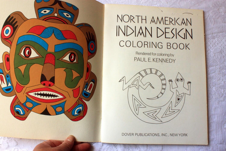 América del norte indio para colorear libro de diseño, vintage libro ...