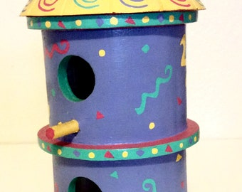Confetti hand painted birdhouse