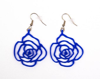 Rose earrings / 3D printed earrings