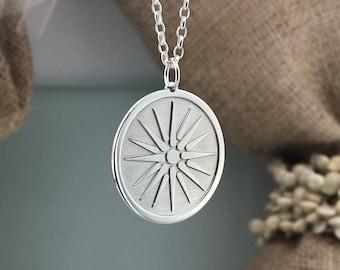 Macedonian sun, Vergina Sun Pendant, Custom symbol, Great Alexander Verginas star, unisex necklace, Greek history, Sterling silver 925