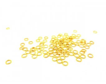 200 Gold 5mm jump rings