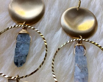 Kyanite hoops