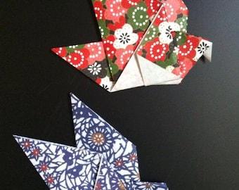 Origami Bird Magnets