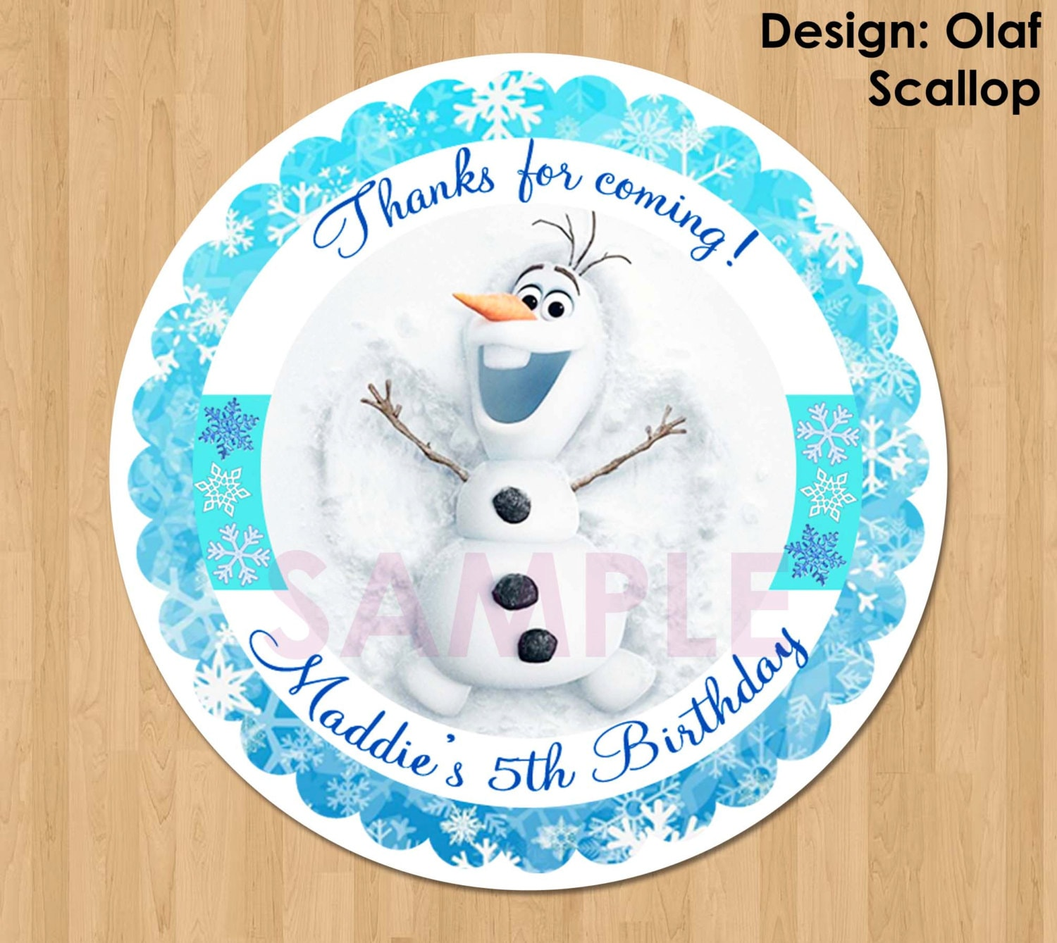Disney Frozen Favor Tag Or Label Olaf Frozen Birthday Party