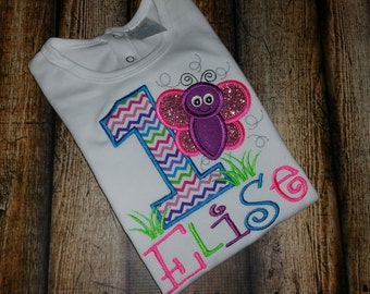 Butterfly Themed Birthday Shirt