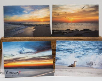 Cape May, NJ - Notecard Set - 4 blank 4 x 5 1/2 notecards and envelopes