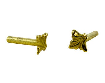 Brass Solid Rivet Fleur de lis Design Pkg Of 10 For All Crafting Needs