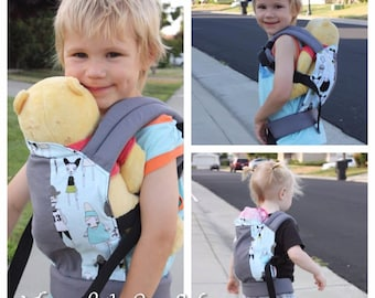 SnowPack doll/stuffed animal carrier - made to order