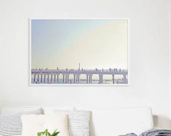 Oversize Beach Art // Boardwalk Photography // Large Wall Art Brooklyn // Beach Photography -  Large Archival Print Coney Island 60x40""