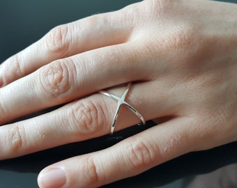 Sterling Silver .925 Geometric Molecule Atom Ring SZ 5.5, 7, 8