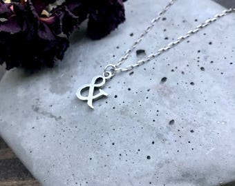 Ampersand Necklace - And Symbol - & Jewelry - Ampersand Charm - Bridesmaid Gift - Gift for Her - Personalized Jewelry