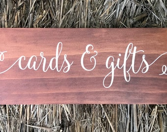 Cards and Gifts Sign | Cards and Gifts Wedding Sign | Wooden Wedding Sign | Wedding Cards and Gifts Sign | Wedding Signs | Made In Australia