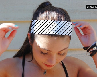 Black and White Headband, Fitness Headband, Thin Headband, Thick Headband, Indie Headband, BOHO headband, Turban Headband