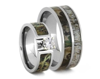 Black Camo Wedding Rings by ONE CAMO 8mm Black Rings