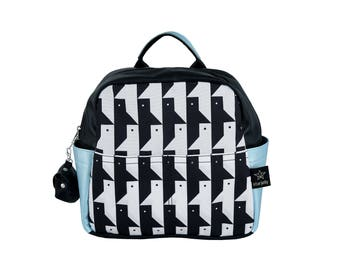 kids Backpack, New collection-Faces Toddler backpack,  Black and white backpack,  Kids urban backpack,childrens Backpack, Monochromatic bag