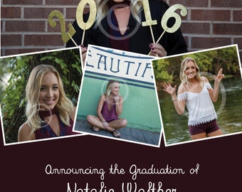 Graduation Announcement and Invitation (customized by me)