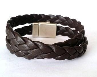 Wrap bracelet, leather bracelet, boho bracelet, bracelet  for men, cuf bracelet, boho jewelry, mens bracelet gift