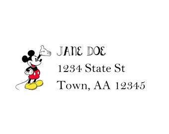 Mickey Mouse Address Label Digital Image