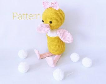 Amigurumi Duck Tutorial : Pattern dilly the duck crochet duck pattern amigurumi
