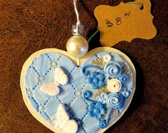 Heart Christmas Tree Ornament You Choose by FatCat Designs