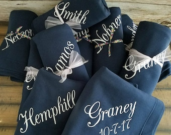 Embroidered Name Blanket