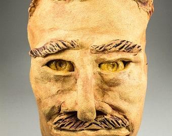Freddie Mercury Queen ceramic sculptural mask