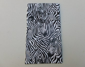 Zebra ice bag cover
