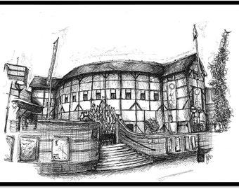 The Globe Theatre Print