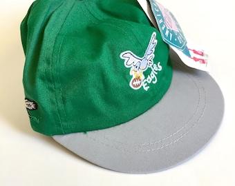 Vintage Green NFL Football Team Eagles Embroidery Toddler Kids Cotton Baseball Hat Cap