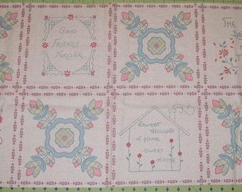 A Beautiful Kaye's Cottage Sentiments Fabric Panel Free U.S. Shipping