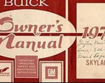 1977 Buick Skylark Owner's Manual - Skylark 1254727B