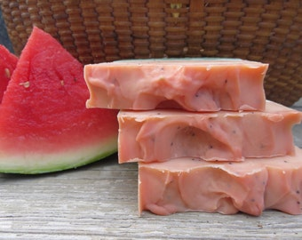 Watermelon Soap, All Natural Soap, Handmade Soap, Bar Soap, Homemade Soap, Artisan Soap, New Hampshire Soap, Bath Soap, Hand Soap
