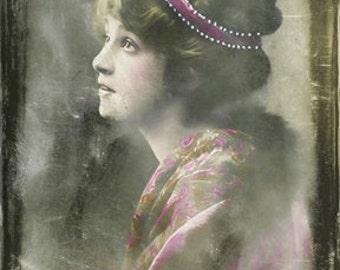 Instant Download Vintage Woman Juliet Digital Download Commercial Use Digital Graphics
