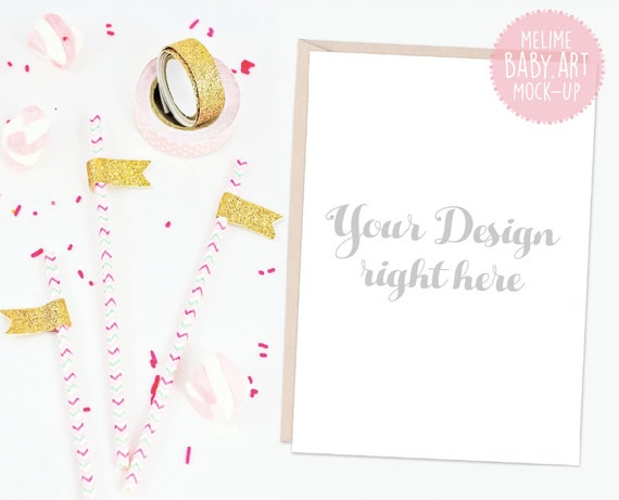 Invitation mockup party invite mockups 5x7 cards mockup stopboris Image collections