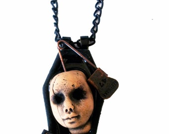 Repent Doll Head Necklace