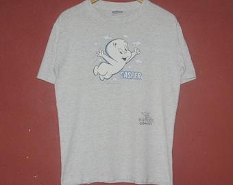 Vintage 1992 CASPER the Friendly Ghost T shirt size Medium / 1990s Harvey Comics Anime Cartoon fictional Film Video Games Ghost Tee Shirt