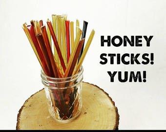 Honey Sticks! 12 Flavors!