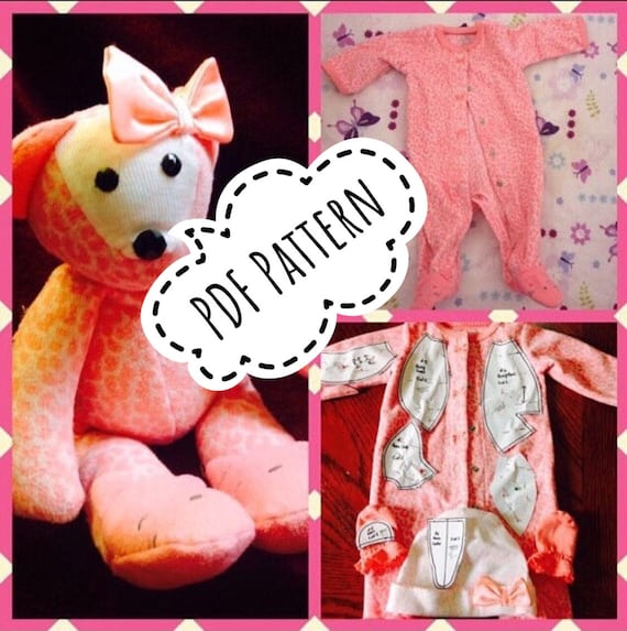 Make a Memory Bear From Baby Clothes